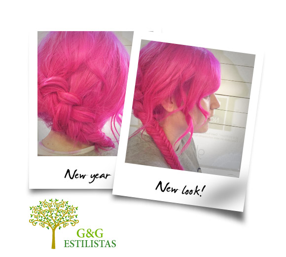 look color pelo rosa fucsia